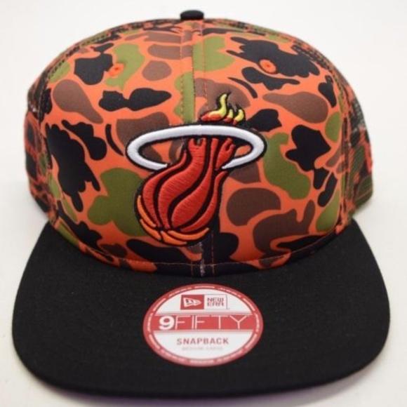 best service 1151f b93f7 Men s New Era Miami Heat 9Fifty Snapback Cap